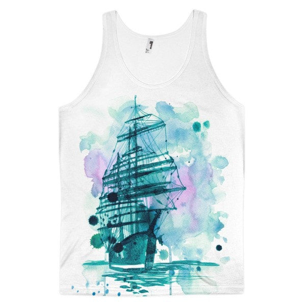 Wandering ship Classic fit men's tank top - Hutsylife