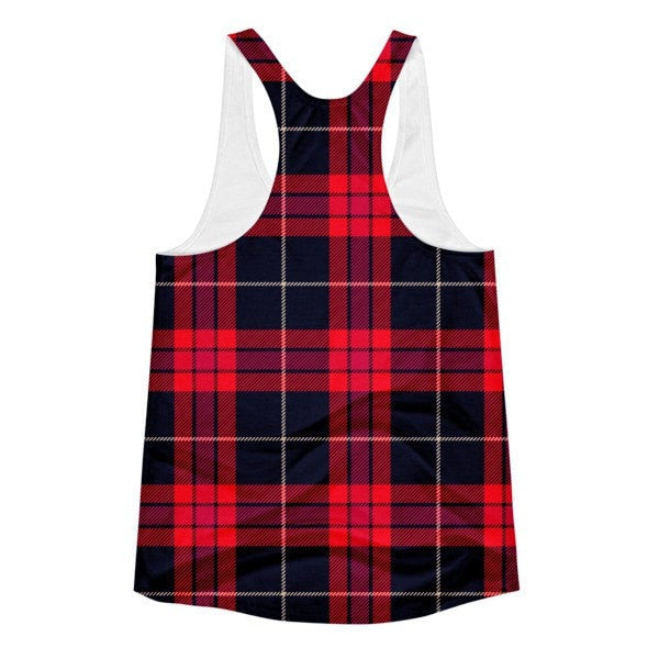 All over print - Plaid Women's Racerback Tank - Hutsylife - 2