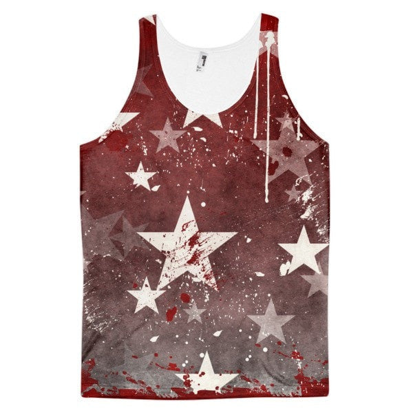 All over print - Red star Classic fit men's tank top - Hutsylife - 1