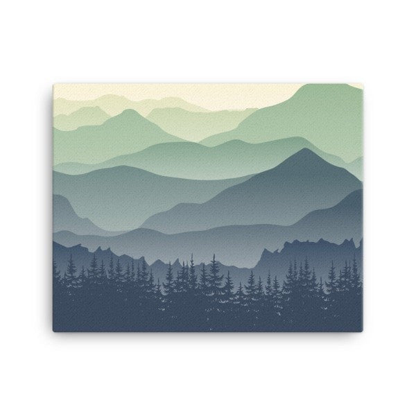 Mountain fog Canvas - Hutsylife - 2