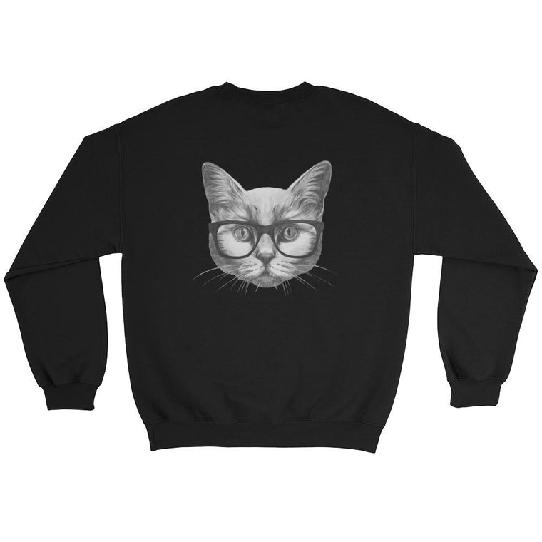 Hutsylife Crew - Eyeglass Cat (Back print)