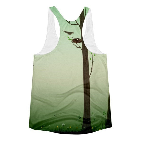 All over print - Spring forest Women's Racerback Tank - Hutsylife - 2