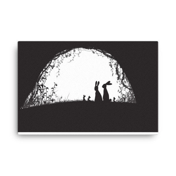 Rabbit hideout Canvas - Hutsylife - 4