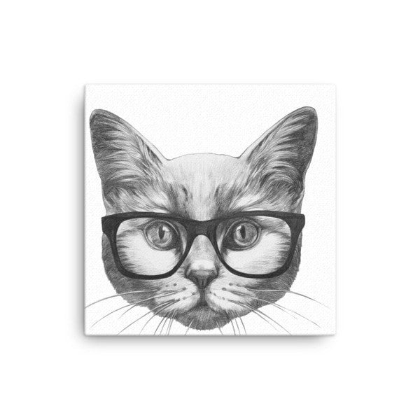 Eyeglass cat Canvas - Hutsylife - 1