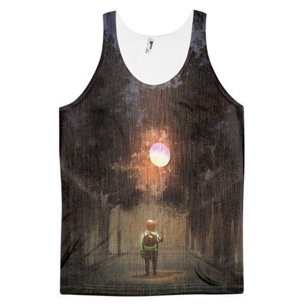 Glowing balloon Classic fit men's tank top - Hutsylife
