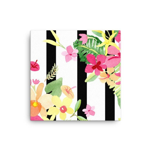 Stripe flower Canvas - Hutsylife - 1