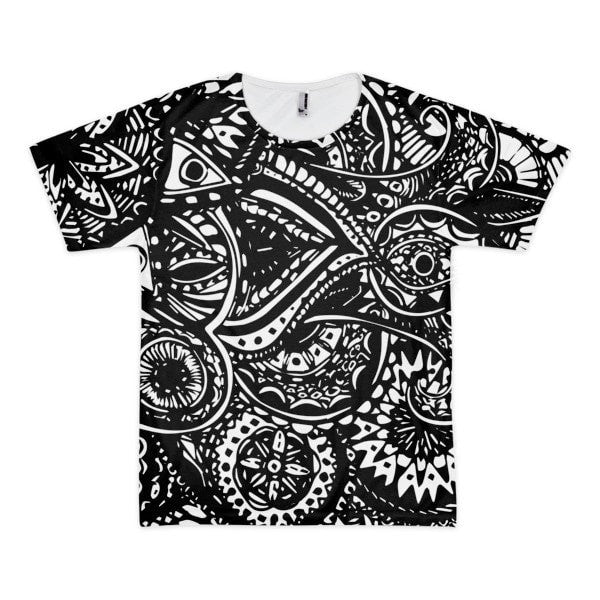 All over print - Black Veritas Short sleeve t-shirt (unisex) - Hutsylife - 1