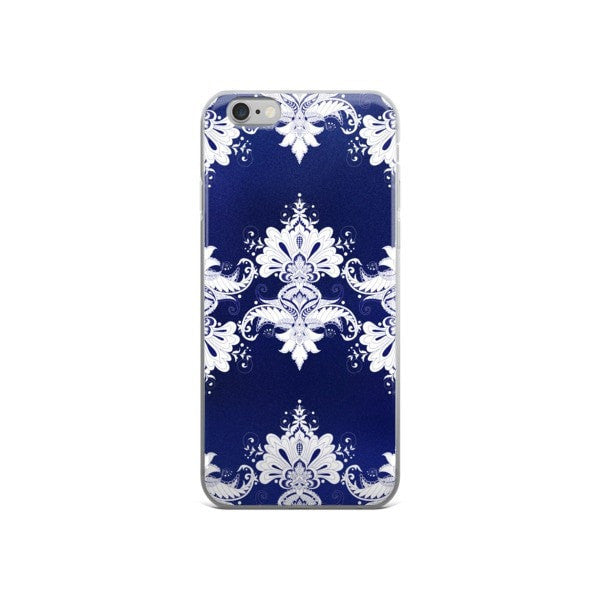 Blue white flow iPhone case - Hutsylife - 3