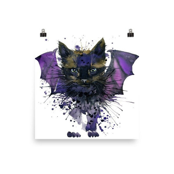 Bat cat Poster - Hutsylife - 2