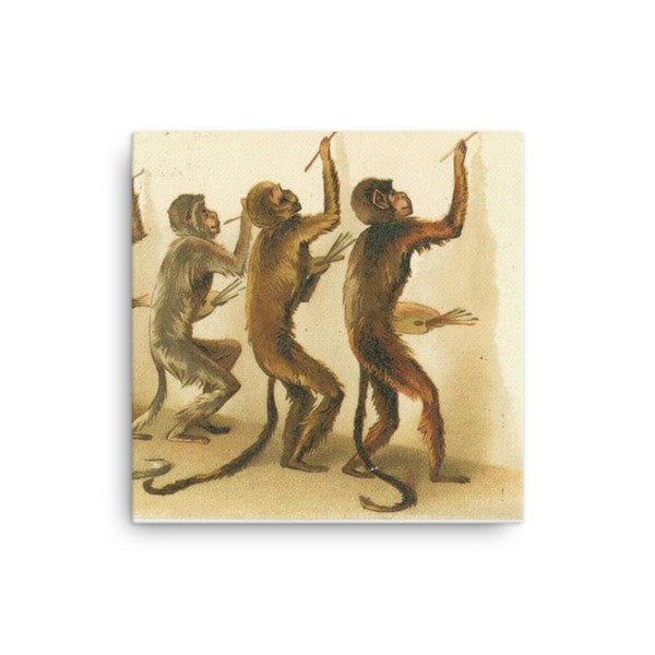 Monkey painting Canvas