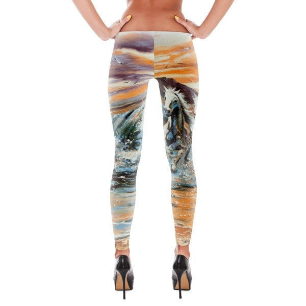 White horse water Leggings - Hutsylife - 2