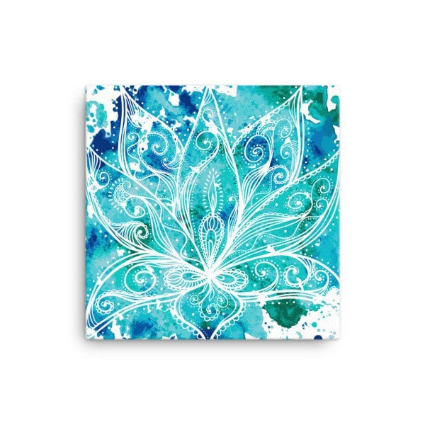 Boho lotus Canvas - Hutsylife - 1