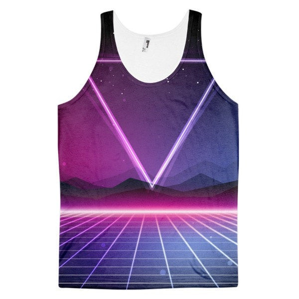 All over print - Retro 80's Classic fit men's tank top - Hutsylife - 1