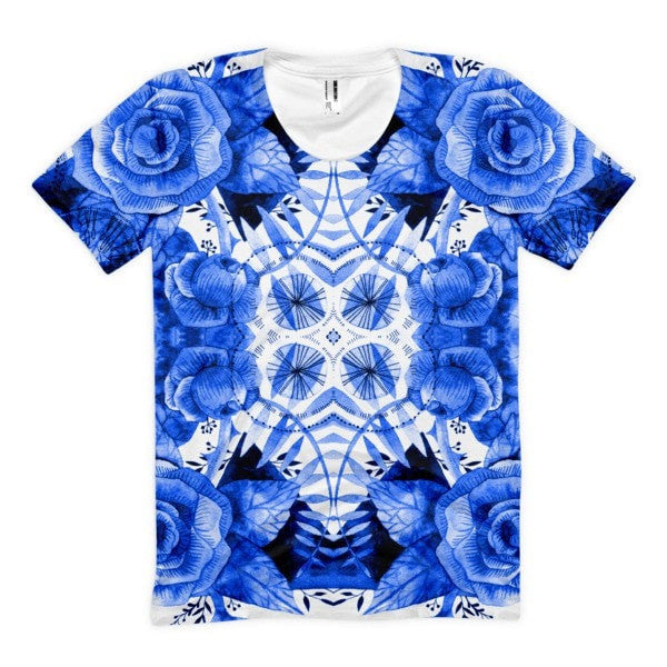 All over print - Boherian floral Women's sublimation t-shirt - Hutsylife - 1