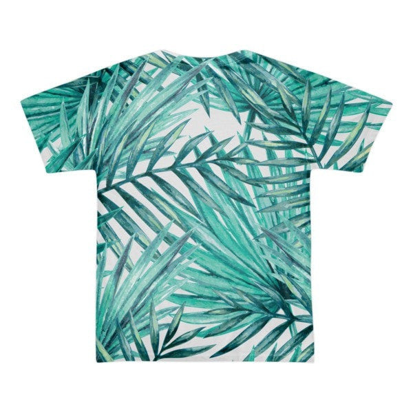 All over print - Tropical Hidden leaf Short sleeve men's t-shirt - Hutsylife - 2