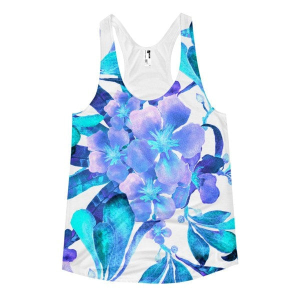 All over print - Light blue flow Women's racerback tank