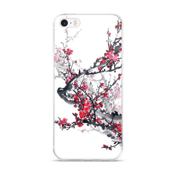 Plum blossom iPhone case