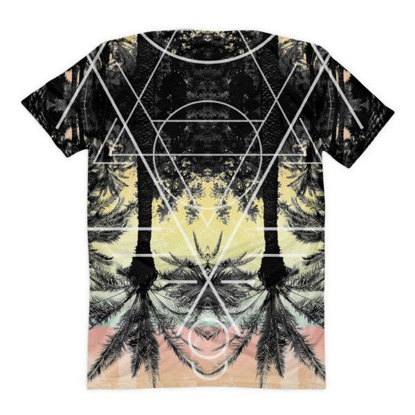 All over print - Palm Reflection Women's Sublimation T-Shirt - Hutsylife - 2