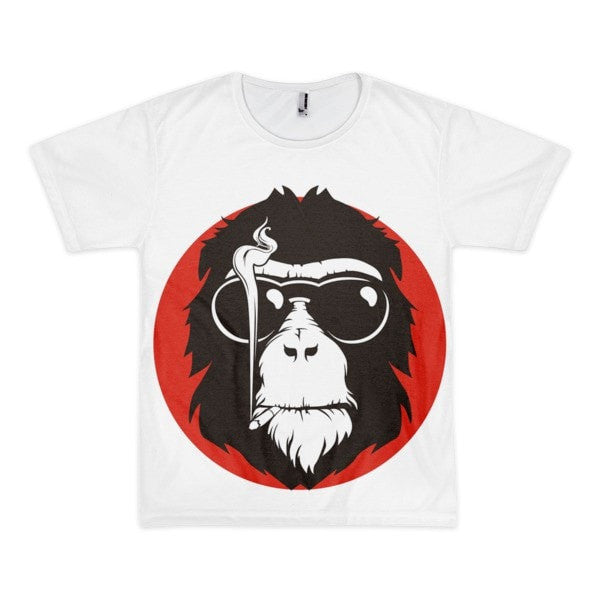 Red monkey Short sleeve men's t-shirt - Hutsylife