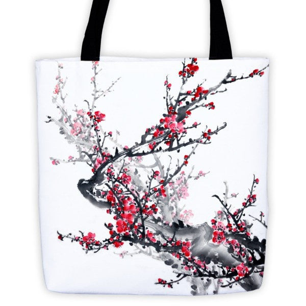 Plum blossom Tote bag - Hutsylife