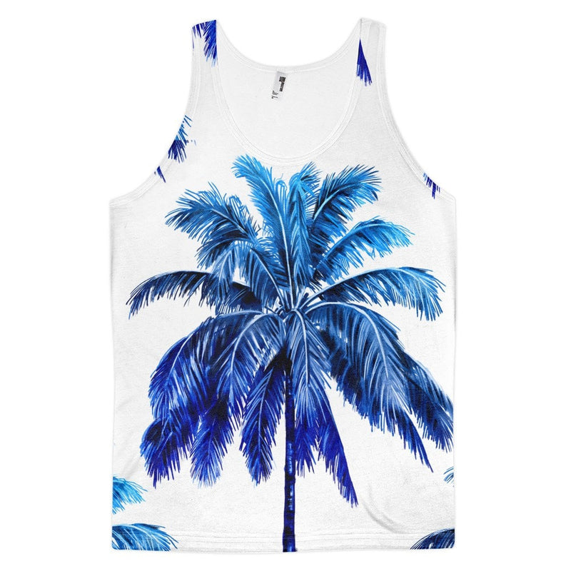 All over print - Blue palm Classic fit men's tank top
