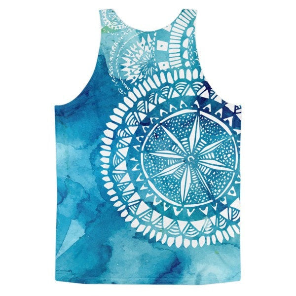 All over print - Classic fit tank Blue Veritas Men's tank top - Hutsylife - 2