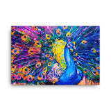 Peacock rain Canvas - Hutsylife - 4