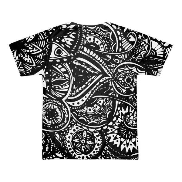 All over print - Black Veritas Short sleeve t-shirt (unisex) - Hutsylife - 2