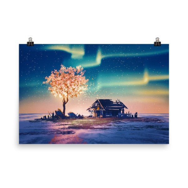 Northern lights Poster - Hutsylife - 9