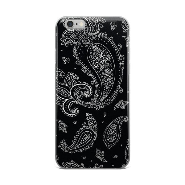 Black Paisely iPhone case - Hutsylife - 2