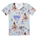 All over print - Summer geometric Women's sublimation t-shirt - Hutsylife - 1