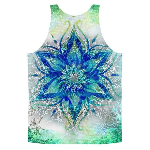 All over print - Ornamental blue Classic fit men's tank top - Hutsylife - 2