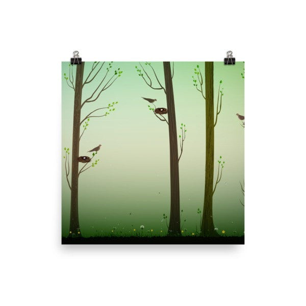 Spring forest Poster - Hutsylife - 2