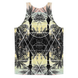 All over print - Palm Reflection Classic fit men's tank top - Hutsylife - 2