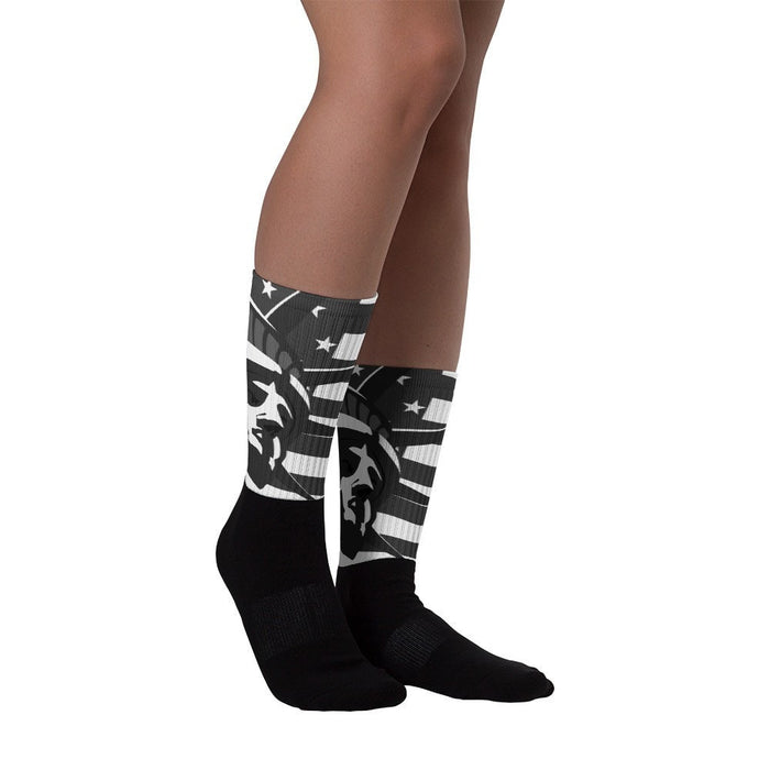Black liberty foot socks