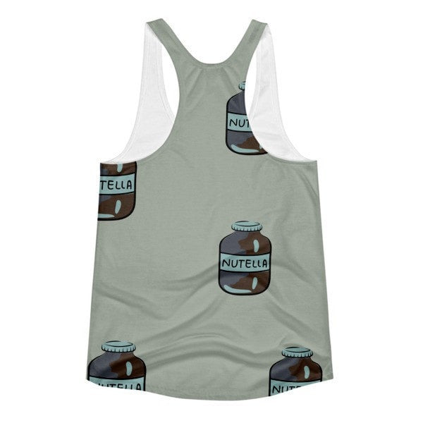 All over print- Nutella Women's racerback tank - Hutsylife - 2