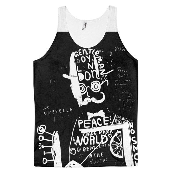 Man in a hat Classic fit men's tank top - Hutsylife