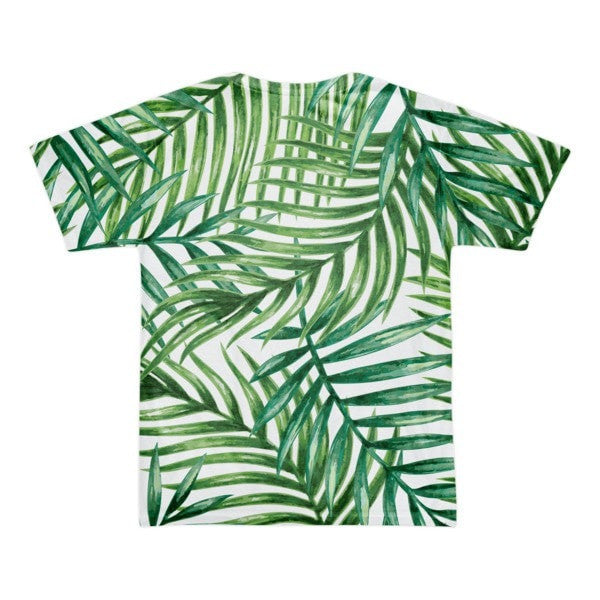 All over print - Tropical leaves Short sleeve men's t-shirt - Hutsylife - 2