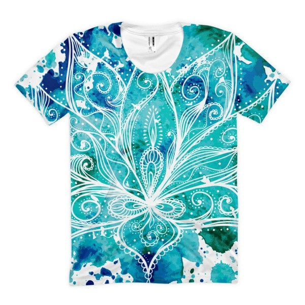 All over print - Boho Lotus Women's sublimation t-shirt - Hutsylife - 1