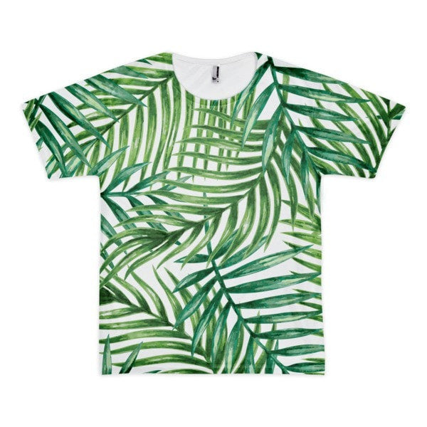 All over print - Tropical leaves Short sleeve men's t-shirt - Hutsylife - 1