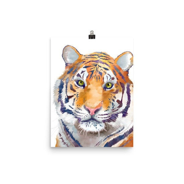Watercolor Tiger Poster - Hutsylife - 5