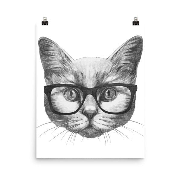 Eyeglass cat Poster - Hutsylife - 7