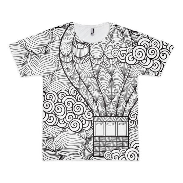 All over print - Hot air Balloon Short sleeve men's t-shirt - Hutsylife - 1