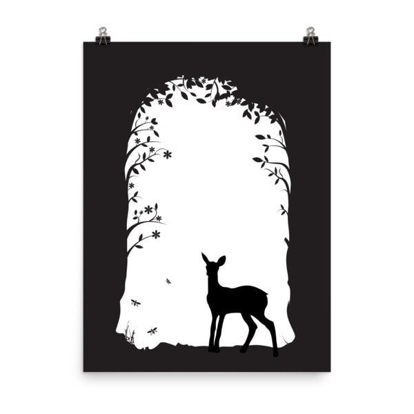 Deer's tunnel Poster - Hutsylife - 2