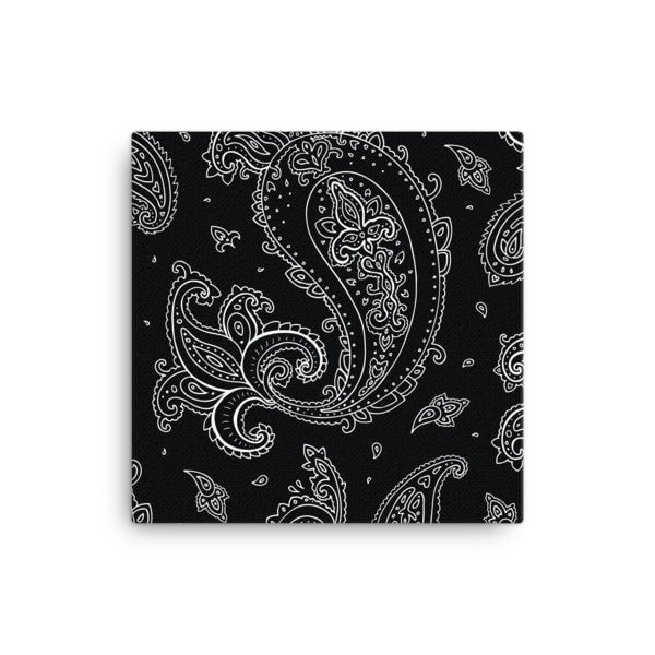 Black Paisley Canvas - Hutsylife - 1