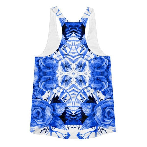 All over print - Boherian floral Women's racerback tank - Hutsylife - 2