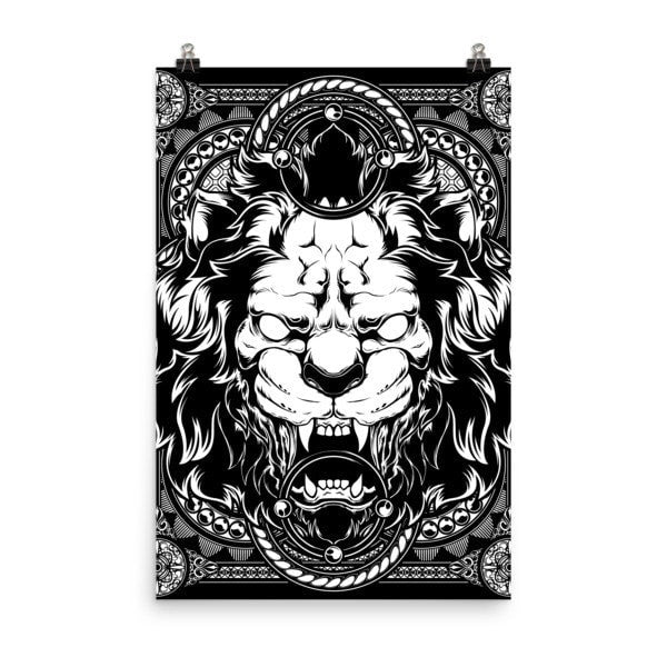 Lion abyss Poster - Hutsylife - 8