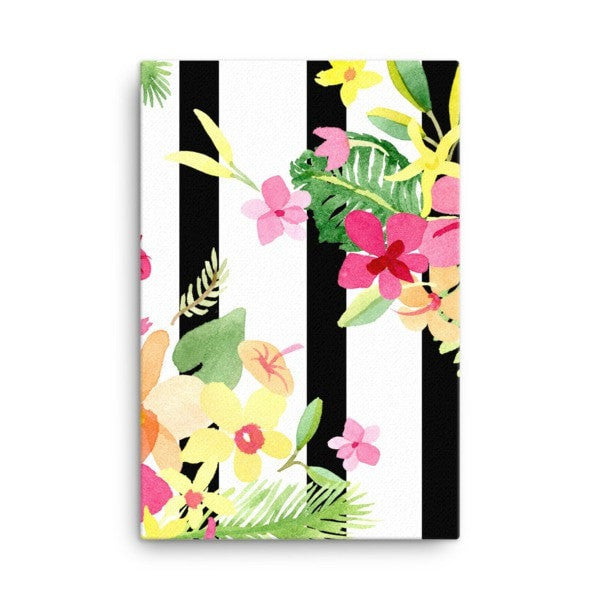 Stripe flower Canvas - Hutsylife - 4