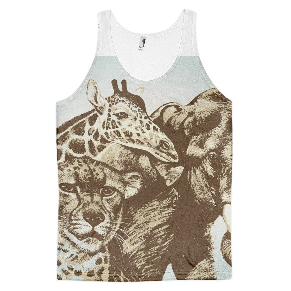 All over print - African Expedition Classic fit men's tank top
