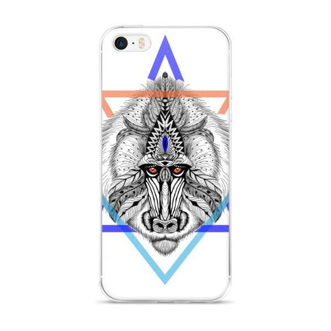 Aztec baboon iPhone case